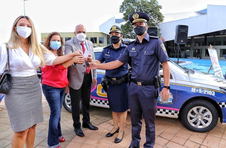 Prefeito Rogério Cruz entrega viaturas para a Guarda Civil Metropolitana (GCM). Veículos serão utilizados pelo Programa Mulher Mais Segura